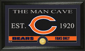 "Chicago Bears ""The Man Cave"" Bronze Coin Panoramic Photo Mint"