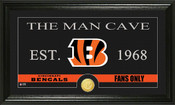 "Cincinnati Bengals ""Man Cave"" Bronze Coin Panoramic Photo Mint"