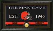 "Cleveland Browns ""Man Cave"" Bronze Coin Panoramic Photo Mint"