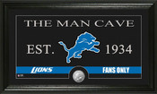 "Detroit Lions ""Man Cave"" Bronze Coin Panoramic Photo Mint"