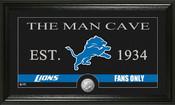 "Detroit Lions ""Man Cave"" Bronze Coin Panoramic Photo Mint"