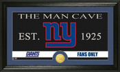 "New York Giants ""Man Cave"" Bronze Coin Panoramic Photo Mint"