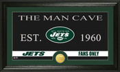 "New York Jets ""Man Cave"" Bronze Coin Panoramic Photo Mint"