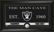 "Oakland Raiders ""Man Cave"" Bronze Coin Panoramic Photo Mint"