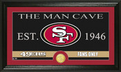 "Green Bay Packers ""The Man Cave"" Bronze Coin Panoramic Photo Mint"