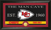 "Washington Redskins ""The Man Cave"" Bronze Coin Panoramic Photo Mint"