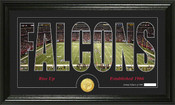 "Atlanta Falcons ""Silhouette"" Bronze Coin Panoramic Photo Mint"