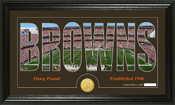 "Cleveland Browns ""Silhouette"" Bronze Coin Panoramic Photo Mint"
