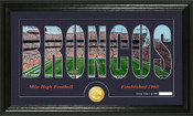 "Denver Broncos ""Silhouette"" Bronze Coin Panoramic Photo Mint"