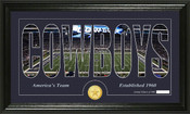 "Dallas Cowboys ""Silhouette"" Bronze Coin Panoramic Photo Mint"