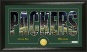 "Green Bay Packers ""Silhouette"" Bronze Coin Panoramic Photo Mint"