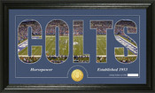 "Indianapolis Colts ""Silhouette"" Bronze Coin Panoramic Photo Mint"