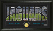 "Jacksonville Jaguars ""Silhouette"" Bronze Coin Panoramic Photo Mint"