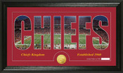 "Kansas City Chiefs ""Silhouette"" Bronze Coin Panoramic Photo Mint"