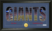 "New York Giants ""Silhouette"" Bronze Coin Panoramic Photo Mint"