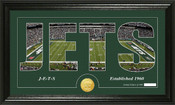 "New York Jets ""Silhouette"" Bronze Coin Panoramic Photo Mint"