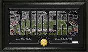 "Oakland Raiders ""Silhouette"" Bronze Coin Panoramic Photo Mint"
