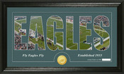 "Philadelphia Eagles ""Silhouette"" Bronze Coin Panoramic Photo Mint"