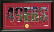 "San Francisco 49ers ""Silhouette"" Bronze Coin Panoramic Photo Mint"