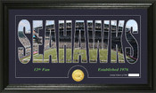 "Seattle Seahawks ""Silhouette"" Bronze Coin Panoramic Photo Mint"