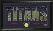 "Tennessee Titans ""Silhouette"" Bronze Coin Panoramic Photo Mint"