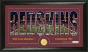 "Washington Redskins ""Silhouette"" Bronze Coin Panoramic Photo Mint"