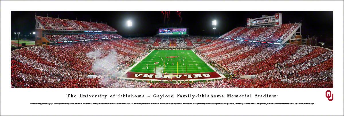 Oklahoma Sooners at Memorial Stadium Panorama Poster