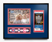 2016 World Series 5x7 Photo Ticket Frame - Chicago Cubs