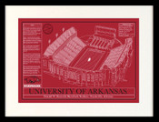 Arkansas Razorbacks/Razorback Stadium Blueprint Art
