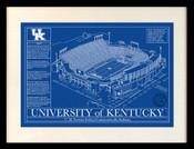 Kentucky Wildcats Blueprint Art