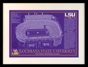LSU Tigers/Tiger Stadium Blueprint Art