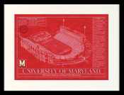 Maryland Terrapins - Maryland Stadium School Colors Blueprint Art