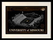 Faurot Field Blueprint Art