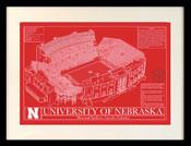 Nebraska Memorial Stadium Blueprint Art