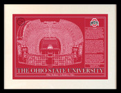 Ohio Stadium Blueprint Art