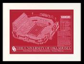 Oklahoma Memorial Stadium Blueprint Art