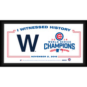 """Chicago Cubs """"The W"""" 2016 World Series Champions Framed 10x20 I Witnessed History"""