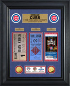 Chicago Cubs 3-Time World Series Champions Gold Coin & Ticket Collection