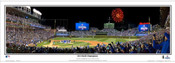 """2016 NLCS Champions"" Chicago Cubs at Wrigley Field Panoramic Framed Poster"