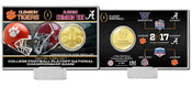 2017 College Football National Championship Dueling Bronze Coin Card