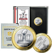 Patriots vs Falcons Super Bowl 51 Official Two-Tone Flip Coin