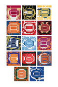 ACC Football Stadiums Poster
