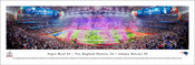 """Super Bowl LI"" New England Patriots vs Atlanta Falcons Panoramic Poster"