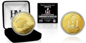 Super Bowl 51 Champions New England Patriots New England Patriots Gold Mint Coin