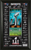 Super Bowl 51 Champions New England Patriots Signature Ticket