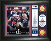 "Super Bowl 51 Champions New England Patriots ""Banner"" Bronze Coin Photo Mint"