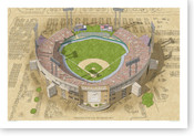 Memorial Stadium - Baltimore Orioles Print