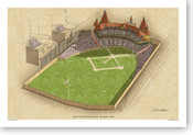 South End Grounds Ballpark Print