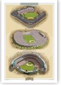 Dodgers Ballparks Print
