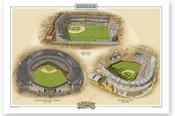 Cleveland Indians Ballparks Print